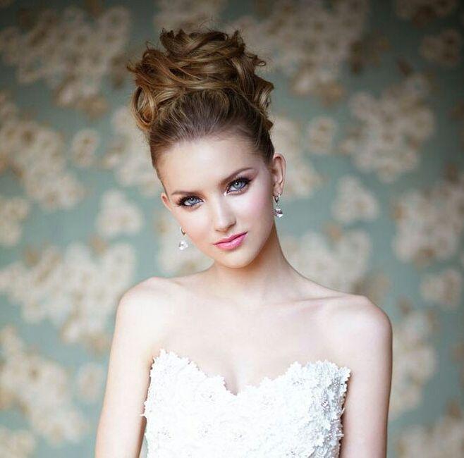 Peinado para vestido princesa belleza foro - Recogidos altos para bodas ...