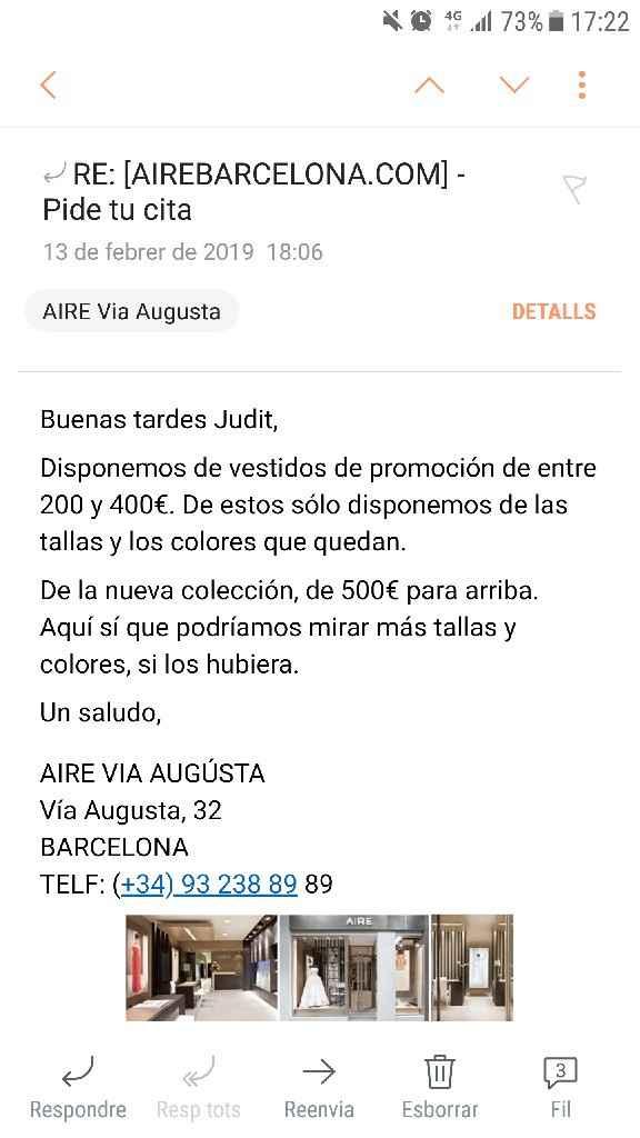 Precios Aire Barcelona 2019 - 1