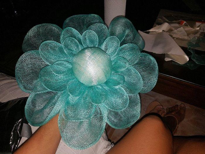 Tutorial : flor de sinamay 8