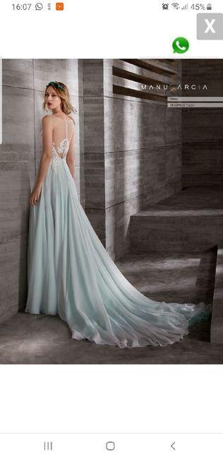 vestido de novia en color 1