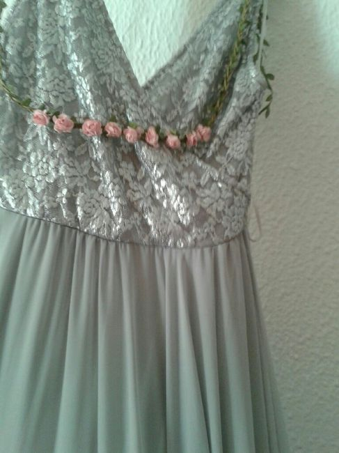 Vestido color plata vintage - 1