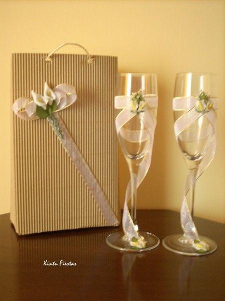 Copas brindis manualidades foro - Como decorar copas para boda ...