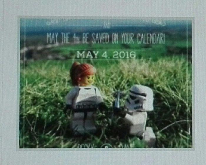 Invitaciones Star Wars o Lego 3