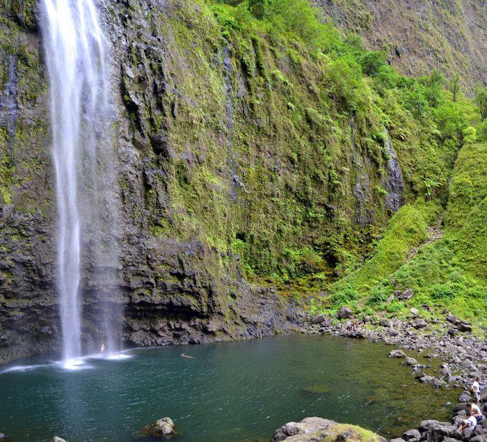 Cascada en Kalalau Trail