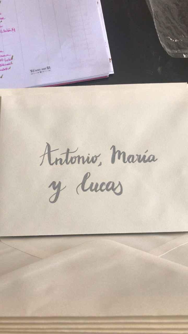 Cómo escribir los sobres de las invitaciones ? - 2