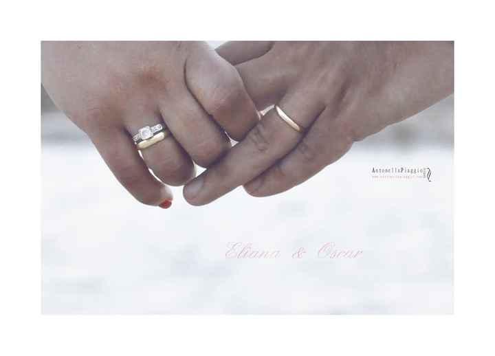 alianzas y anillo de pedida