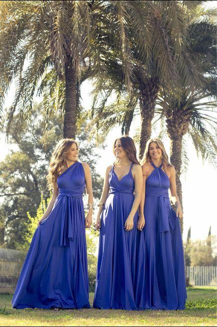 Damas de honor: ¿Vestidas iguales o diferentes? 3