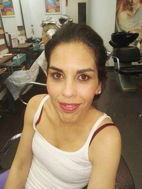 Prueba de maquillaje y peinado - 1