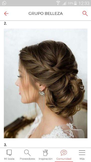 Peinados para vestido largo con escote en v