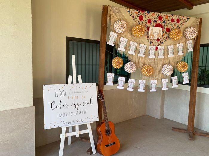 Decoración boda flamenca 1