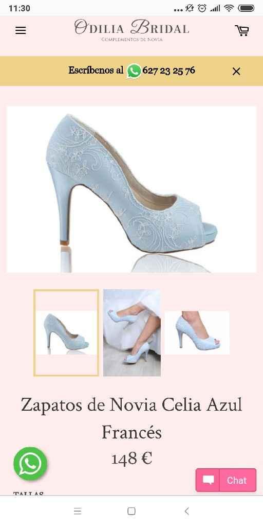 Necesito encontrar unos zapatos azules - 1