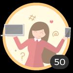 Blogger (50). ¡Ya has creado 50 debates! Internet se ha convertido en un medio en el que compartir tus ideas y tus dudas con los demás. Presume con esta medalla de ser una auténtica blogger.