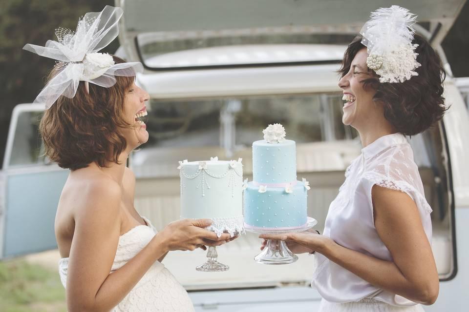 2 novias encantadoras