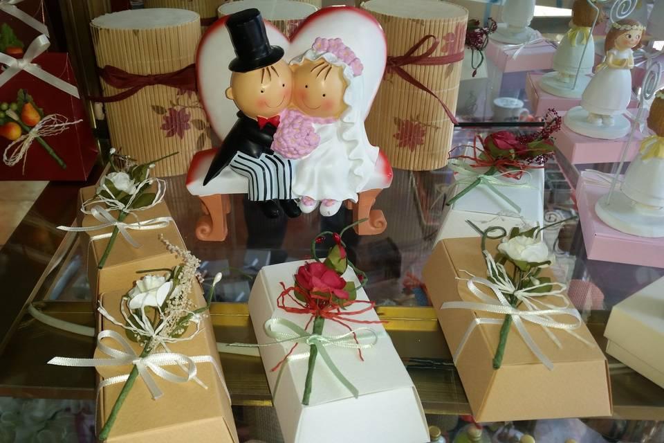 Cajas de cartón decoradas