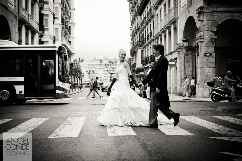 Fotografia artística de boda en San Sebastian