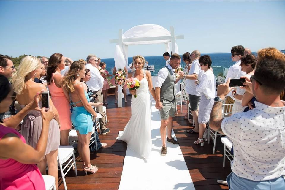 Ceremonia en Roof Terrace