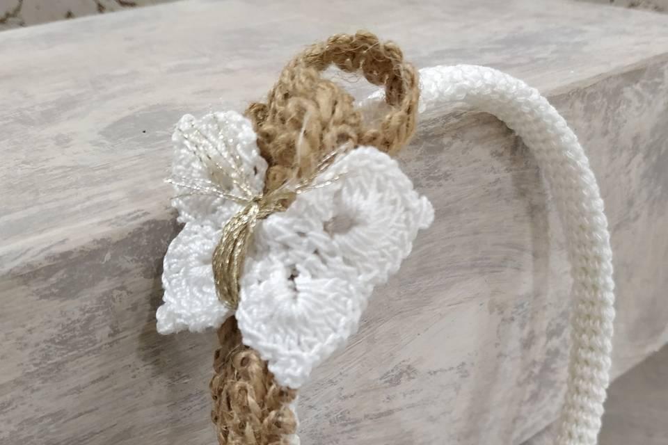 Diadema artesana yute/algodón