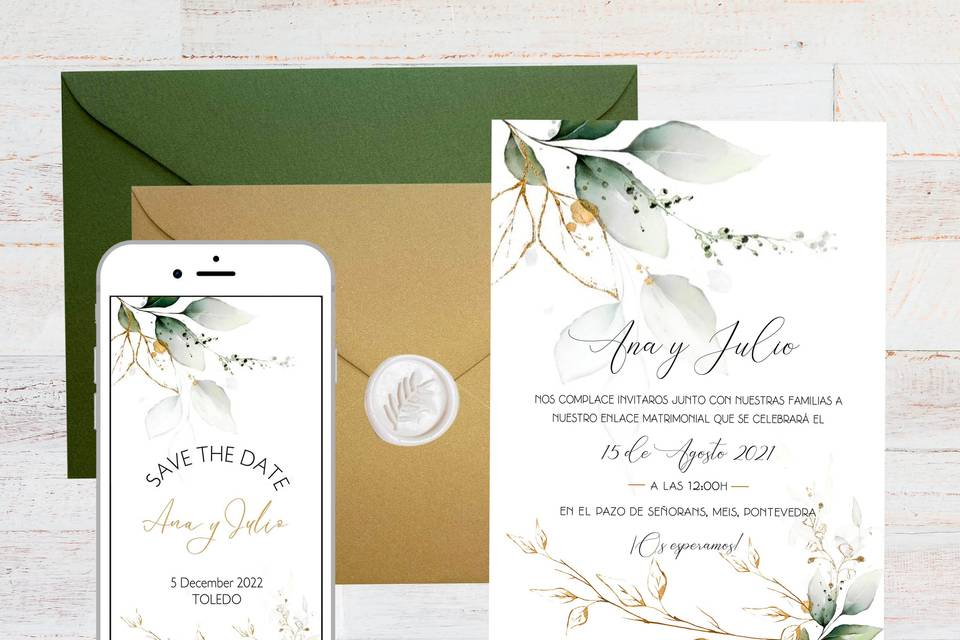 Invitación + Save the date