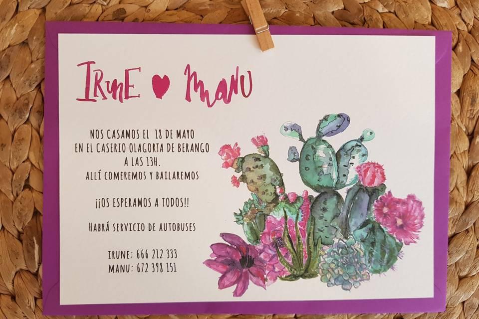Invitaciones cactus