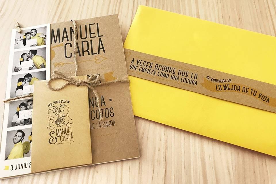 Invitaciones de Manuel y Carla