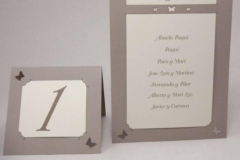 Cartel de invitados de boda
