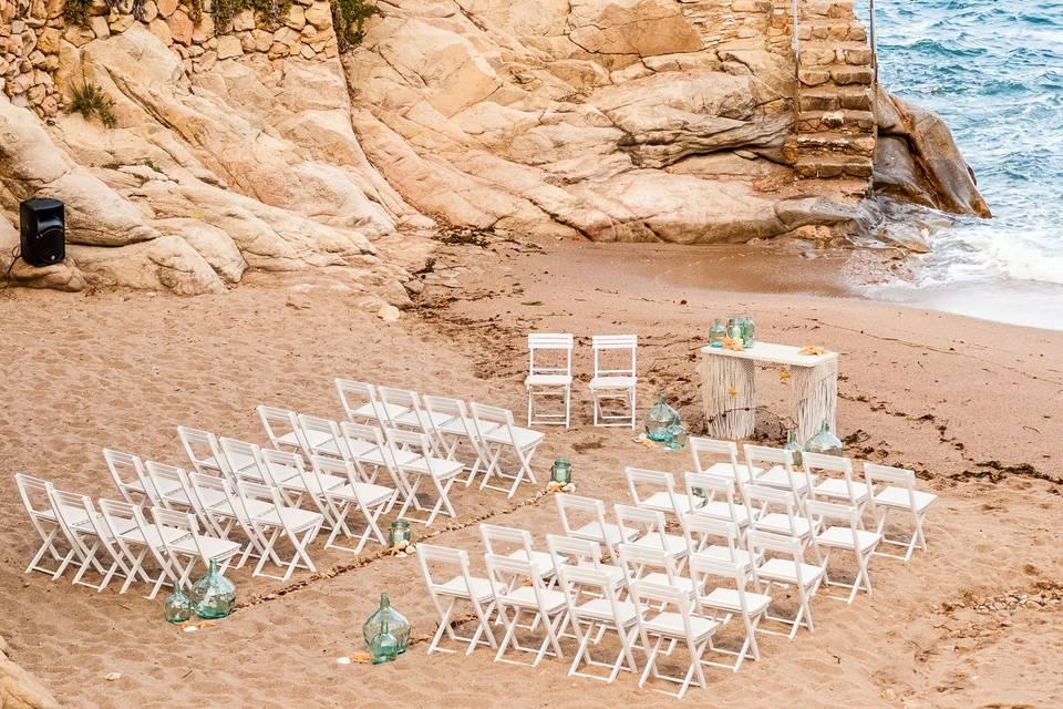 Ceremonia en la playa Èxit Events