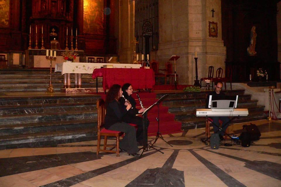 Órgano, clarinete y flauta