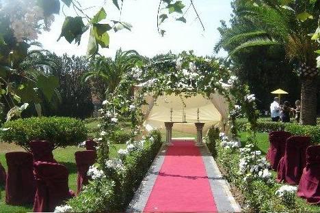 Decoración para ceremonia en la finca