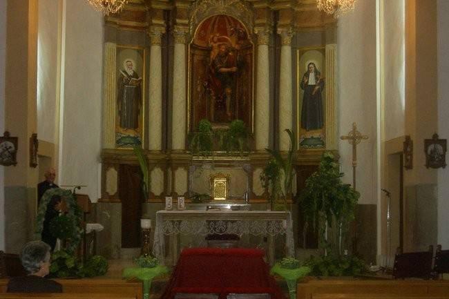 Toques florales en iglesias