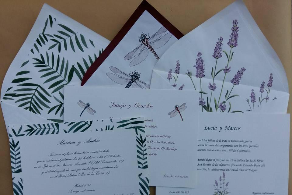Invitaciones de boda Dulcinea