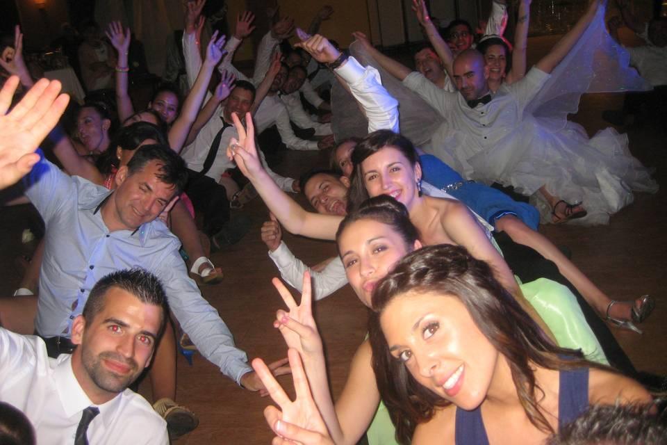 Selfie bailando Paquito El Chocolatero