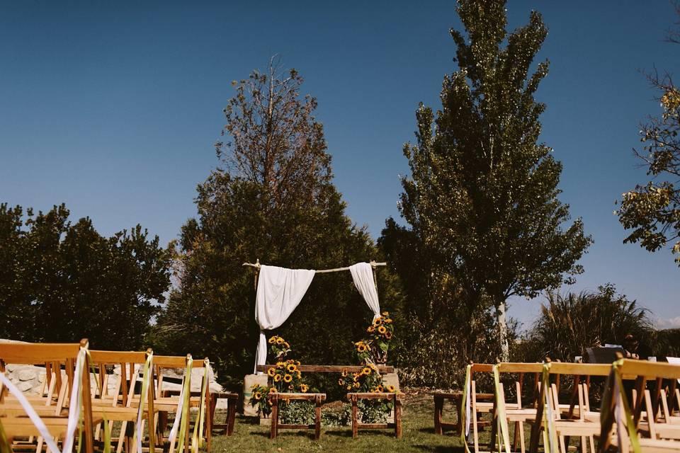 Espacio para ceremonia