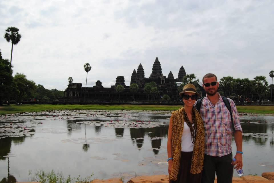 Alicia y Pablo en Camboya