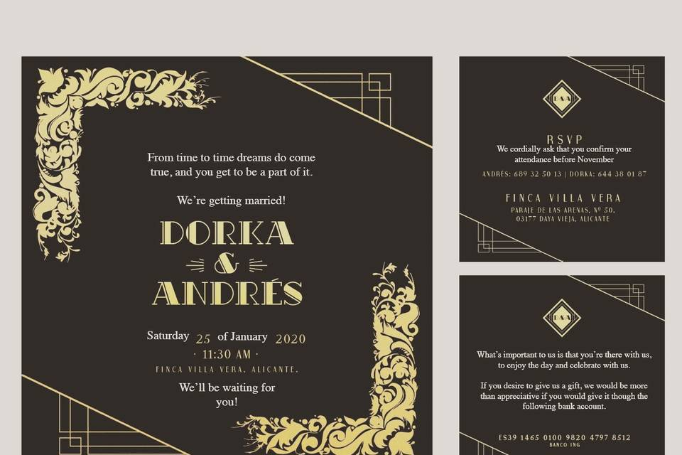 Invitación artedeco