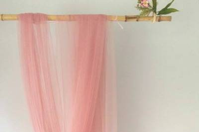 Velo rosa cuarzo de 3 metros
