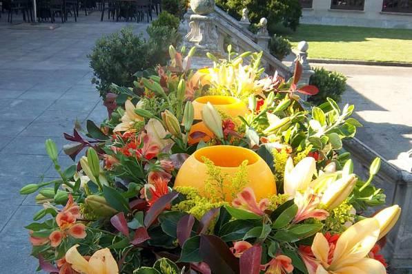 Espacios decorados con flores