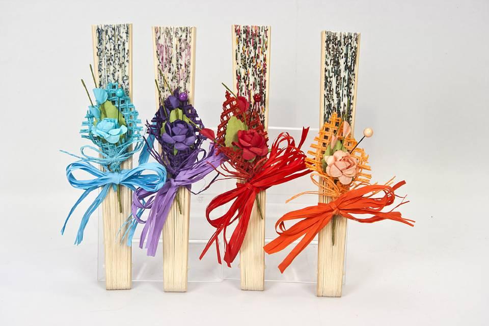 Abanico decorado flor