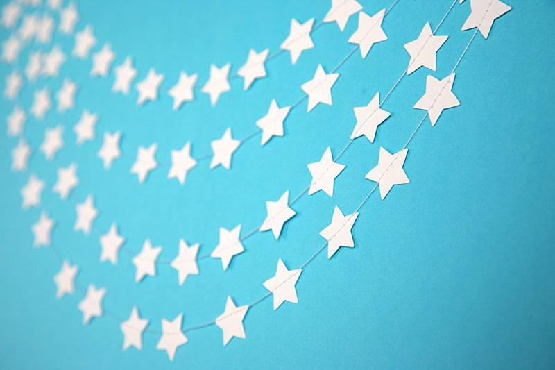 Guirnalda estrellas blancas