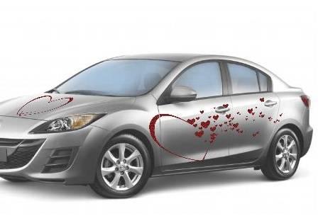 Modelo coche de novios romántico