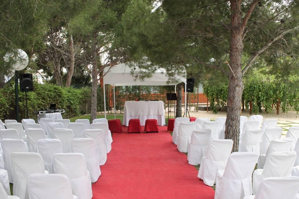 Preparativos ceremonia