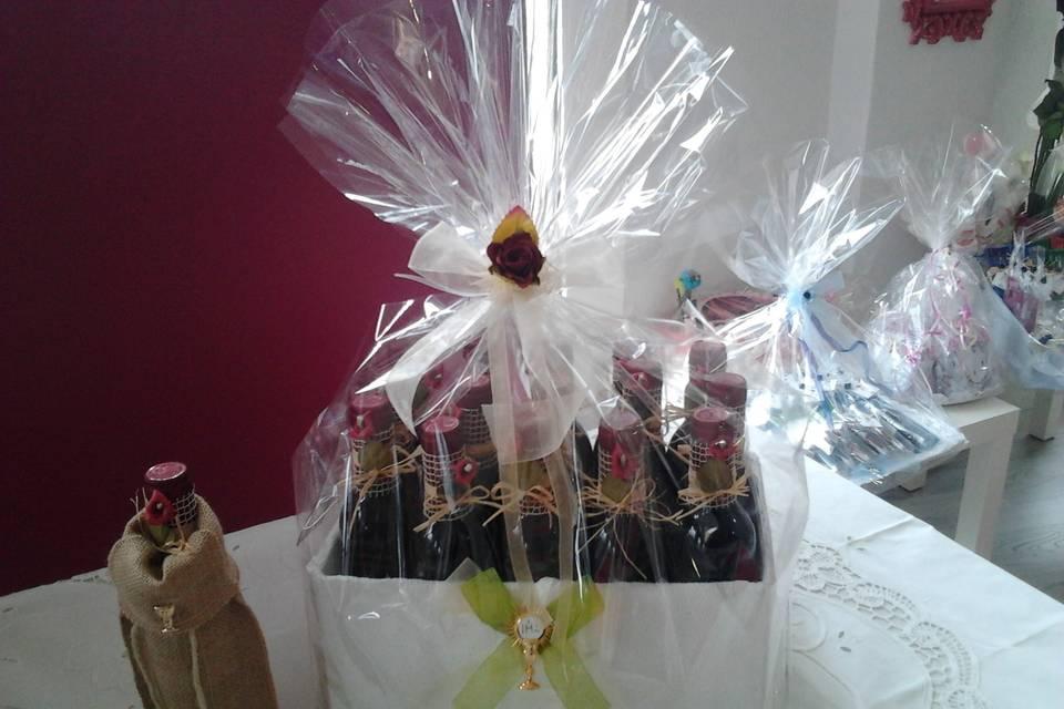 Botellas de vino decoradas