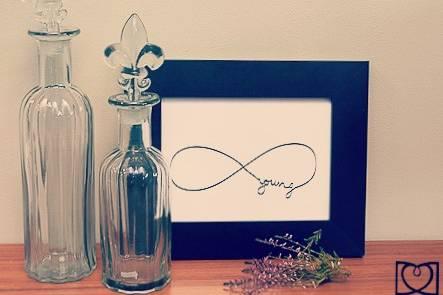 Botellas de cristal y lámina