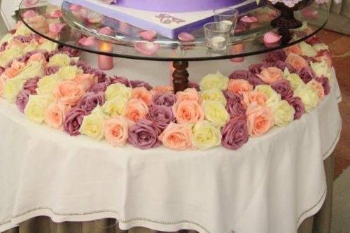 Tarta de boda por pisos