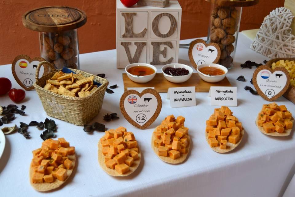 Buffet de boda, Gouda chili