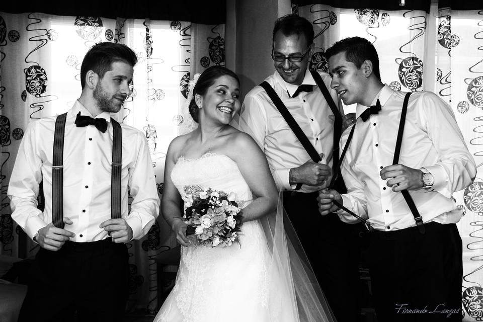 La novia con hermanos