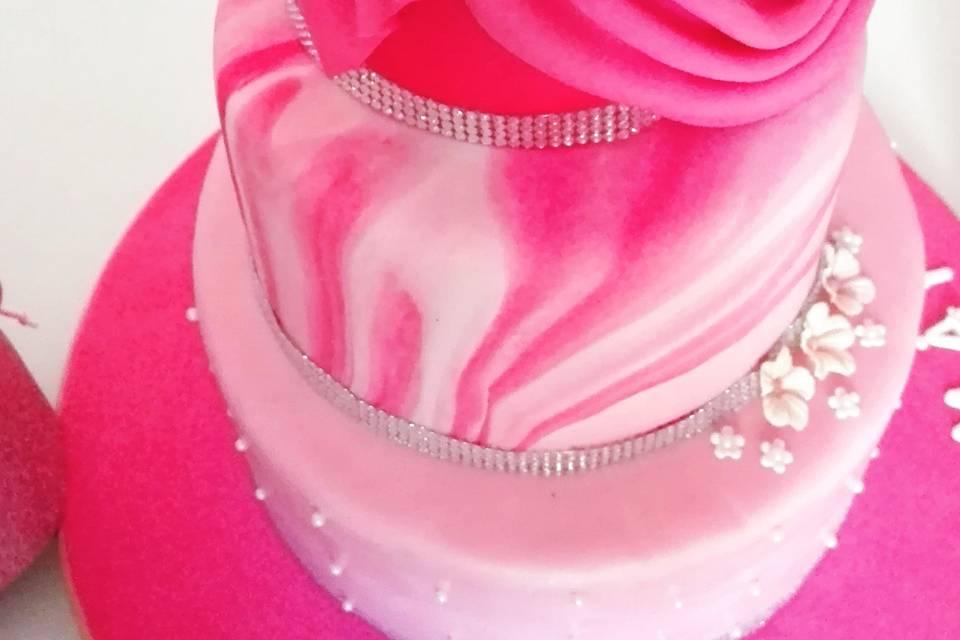 Tarta rosa de 15A