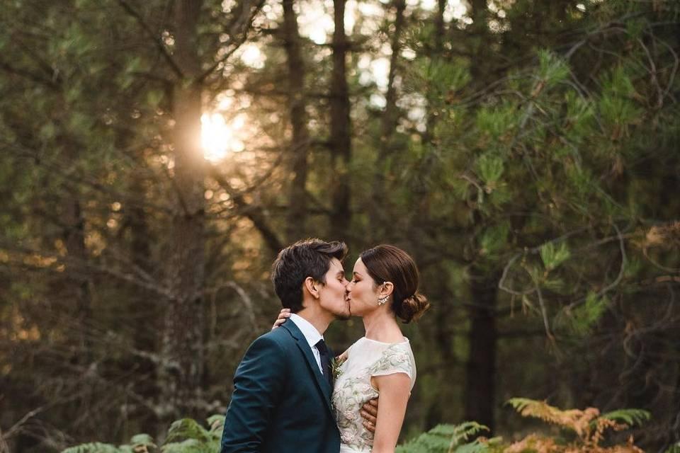 Foto de pareja estilo otoñal