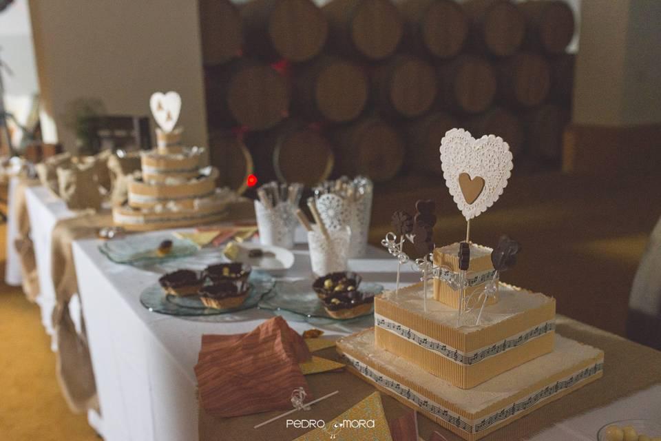 Mesa dulce boda Ángel y Agueda