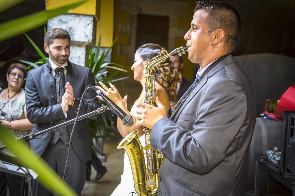 Bodas originales saxofonista