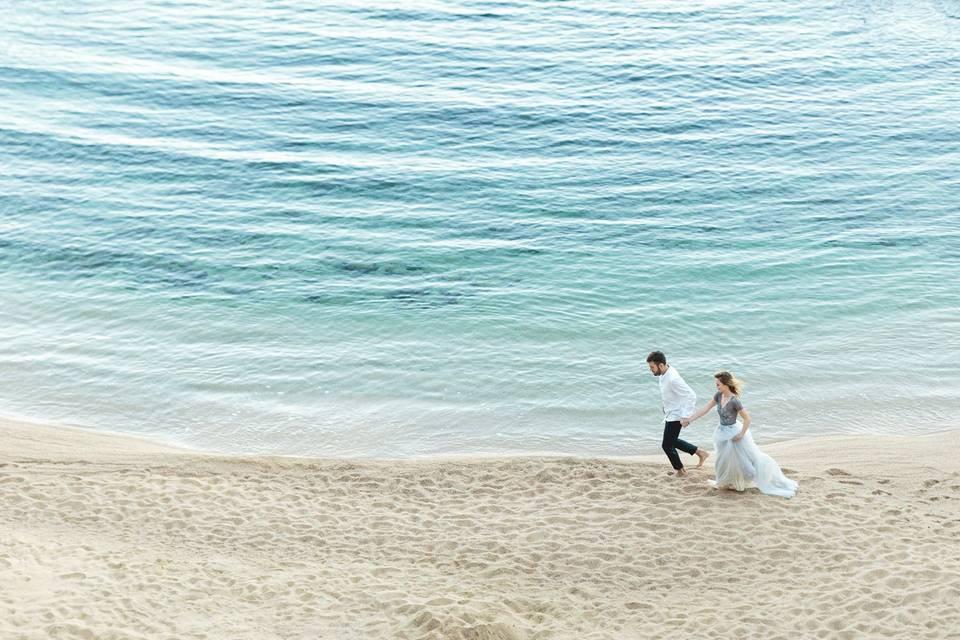 Juntos en la playa